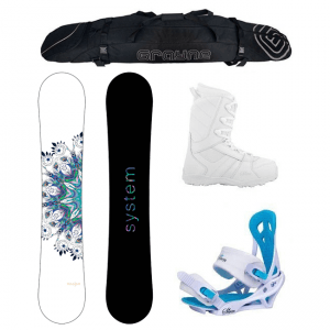 System 2019 Flite w Mystic Bindings and Lux Boots Mujer